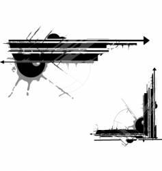 Urban grunge graphic elements vector