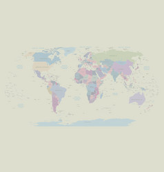vintage political world map eps 10 vector image