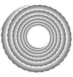 Volute helix element made of lines logarithmic vector