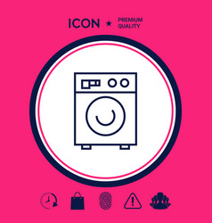 Washing machine linear icon vector