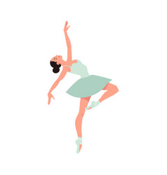 young ballerina in tutu and pointe shoes dancing vector image
