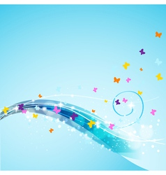 abstract butterflies background vector image vector image
