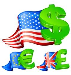 currency symbols vector image vector image