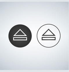 eject icon light and dark version vector image