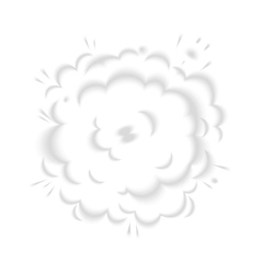 Isolated puffs of smoke vector image