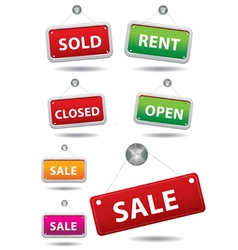 Open and closed signboard vector image