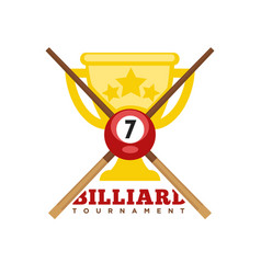 pool or billiards icons set vector image