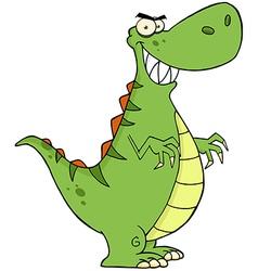 Angry Dinosaur Cartoon Character vector image