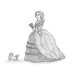 vintage sketch imitating vector image vector image