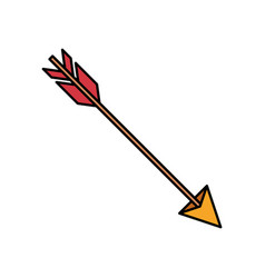 colorful silhouette of hunting arrow vector image
