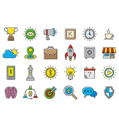 Colorful Web icons set vector image vector image