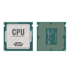 computer processor isolated on white vector image