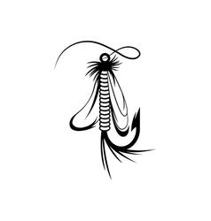 Fly fishing lure design template vector image vector image