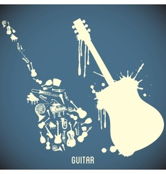 High contrast music instruments vector image vector image