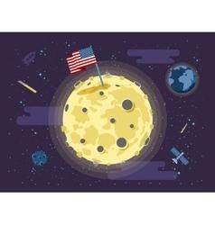 the USA flag stuck into the vector image