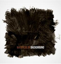Abstract black hand drawn grunge watercolor vector image