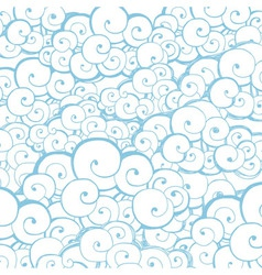 Decorative background with clouds or waves vector image