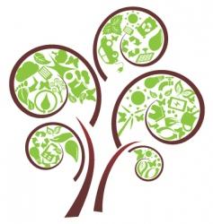 eco tree vector image vector image