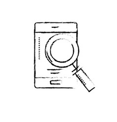 figure smartphone technology information with vector image