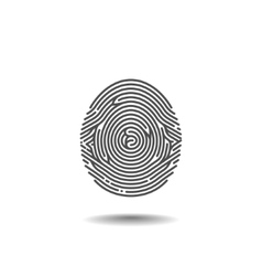 Stylized Thumbprint on the White Background vector image