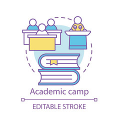 Academic camp concept icon knowledge educational vector