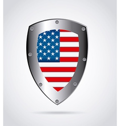 American shield design vector