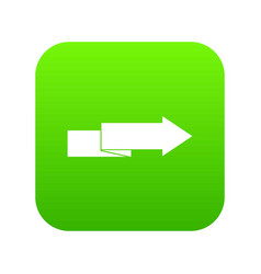arrow to right icon digital green vector image