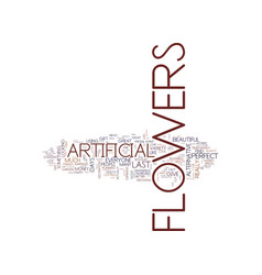 artificial flowers a great alternative text vector image