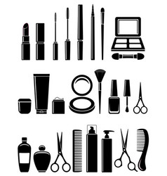 beauty cosmetic set vector image