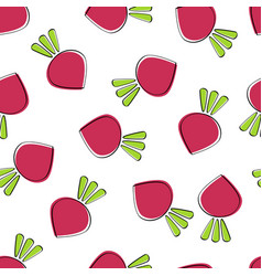 beet vegetable seamless background graphic vector image