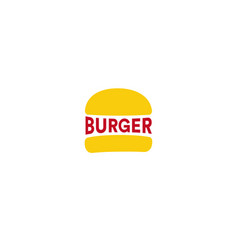 big burger restaurant logo template yellow loaf vector image