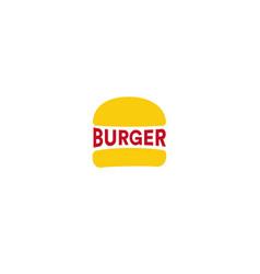 big burger restaurant logo template yellow loaf vector image