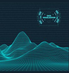 big data visualization background 3d big data vector image