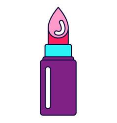 bright lipstick icon vector image
