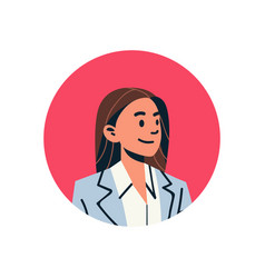 brown hair businesswoman avatar woman face profile vector image