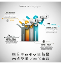 Business Infographic vector image