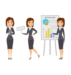 Business woman character silhouette vector