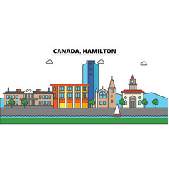 Canada hamilton city skyline architecture vector