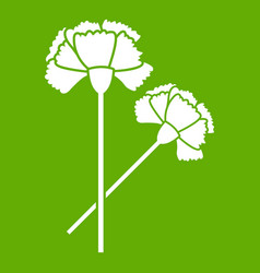 carnation icon green vector image