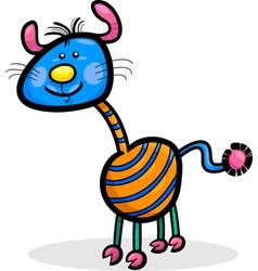 Cartoon funny fantasy creature vector