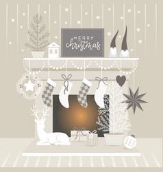 Christmas decorating vector