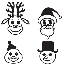Christmas muzzles vector