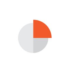 circle graph flat icon symbol premium quality vector image