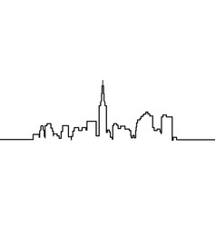 cityscape one line vector image