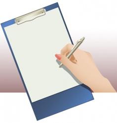 clip pad vector image