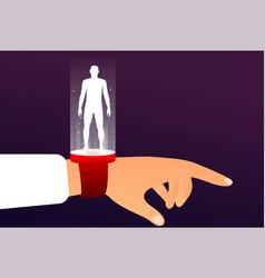 communication future hi-tech concept vector image