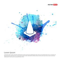 Cone icon - watercolor background vector