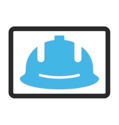 Construction Helmet Framed Icon vector