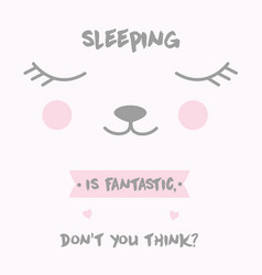 cute anime kawaii sleeping cat vector image