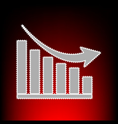 declining graph vector image